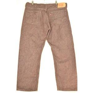 Levi's Jeans - Levi 501 jeans men 42 x 30 brown button fly 100% c